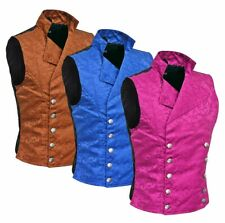 Men's Steampunk Double-breasted Waistcoat Vest Gothic/Western-Reenactmen t/Usa