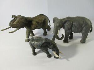 Papo Schleich Bullyland Animals & Wildlife ELEPHANTS x3