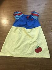 Snow White Hand Made Dress Size 5-6 Appliqued Apple