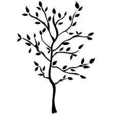 Black Decorative Tree Removable Wall Art Decals, Modern Home Decor Wall Applique