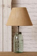 New Primitive Antique Style GREEN MASON JAR LAMP Electric Table Light