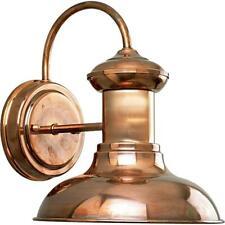 Progress Lighting Brookside 1-Light Copper 9.75 in. Outdoor Wall Lantern Sconce