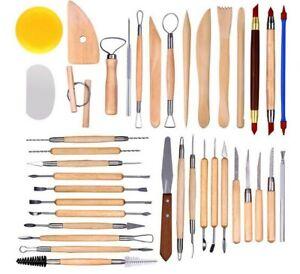 38 Stück Bildhauerei Keramik Töpferei Ton Keramik Modellier Werkzeuge DIY Set H