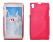 Cover für Sony Xperia Z1 L39T Backcover S-Case Schale Pink Rosa Silikonhülle