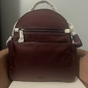 NWT Coach Large Backpack Baby Diaper Shoulder Bag Changing Pad 99290 Purple New