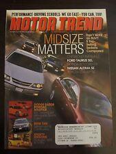 Motor Trend Magazine May 2002 Taurus SEL Impala LS Accord EX Altima SE (E1) (H)