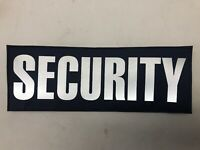 Ex MOD Security Badge Reflective Navy Blue Backing New SIA Event Security