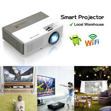 Pico Size Smart Android Home Theater Projector HD 1080p HDMI Wireless Movie Game