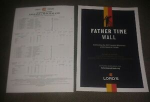 England v New Zealand Official Scorecard 2021 1st Lord's Test Match Day 5 - New