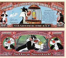 Sylvester the Cat Cartoon Series Million Dollar Novelty Money