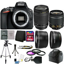 Nikon D5600 24.2 MP D-SLR Camera + 18-55mm & 70-300mm Lens + 64GB Accessory Kit