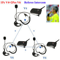 BT Football Referee Judge Intercom Bluetooth Headset Mic 3 Users Talking V4 +2V6