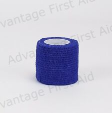 Steroplast Cohesive Bandages to Support Protect Prevent Injuries Sprains 11609 Blue 5cm X 4.5m 12