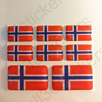 Pegatinas Noruega Pegatina Bandera Noruega Vinilo Adhesivo 3D Relieve Resina
