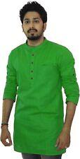 Men's Indian Cotton Short Kurta Indian Clothing Fashion Dress Top Casual Shirt