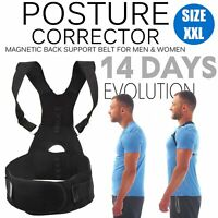 Magnetic Posture Corrector Back Support Lumbar Shoulder Brace Belt XXL Men Women
