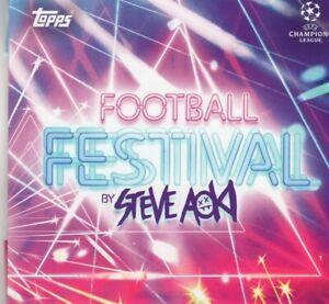 Topps Champions League 2020 / 2021 Football Festival Steve Aoki Base Cards