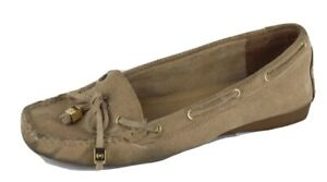 Michael Kors women's loafers tan leather upper rubber outsole size 7.5 M
