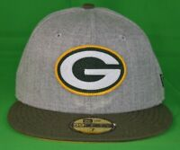 New Era 59Fifty Mens NFL Green Bay Packers Hat Cap NWT 7, 7 1/4, 7 1/8