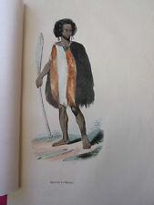 COSTUME AUSTRALIE /  Guerrier de Souraki 1847 rehaussée de couleurs