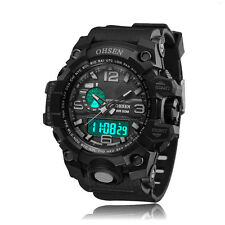 Ohsen Mens Military G Style Day DIGIT Light Water Proof Shock Quartz Wrist Watch