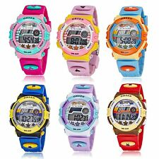 OHSEN Digital LED Date Alarm Child Boys Girls Rubber Sport Watch Waterproof