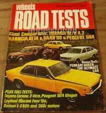 1974.WHEELS Road Tests No.27.Holden TORANA SL/R 5000.Ferrari Boxer.BETA.504.SAAB