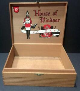 VINTAGE HOUSE OF WINDSOR PALMAS DOVETAIL WOODEN CIGAR BOX, WH SNYDER WINDSOR, PA