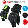 Touring Biker Long Leather Motorcycle Motorbike Gloves With CE Approved Armour