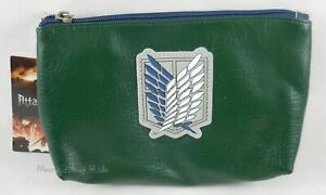 New Attack On Titan Scout Regiment Cosmetic Make-Up Case Tote Bag Purse