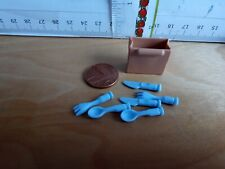 Playmobil Doll House Kitchen Spares  Cutlery, Knives, forks, spoons In Container