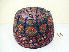 Handmade dorm room chair kantha Bohemian Hippie Bean Bag Gypsy Ottoman Pouf BB37