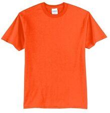 Port & Company Men's 50/50 Short Sleeve Basic Tee-XL SAFETY ORANGE