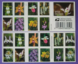 Scott #5445-5454b WILD ORCHIDS Booklet of 20 US FOREVER Stamps MNH 2020