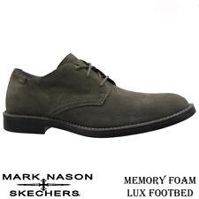 Mens Skechers Leather Memory Foam Walking Formal Smart Casual Office Shoes Size Grey UK 10