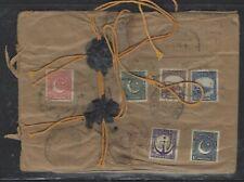 PAKISTAN COVER (P0504B) 1948 6P+1A+1 1/2A+2A+3 1/2A+4A REG COVER TO USA