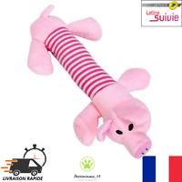 Jouet sonore à mâcher pour Chien  Animaux en Peluche Cochon Neuf FR