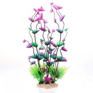 Fish Tank Decorative Plastic Plant Aquarium Grass Silk Bush Water Green Weed DIY