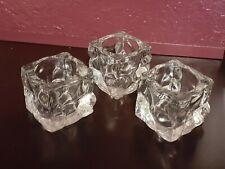 Set Of 3 Decorative Glass Votive Candle Holders