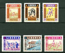 Liberia 1955, SPORTS, Postag Air Mail, Sc#347-349, C88-C90, MNH 2321