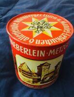 🔴 Scatola latta anni 60 haeberlein metzger lebkuchen blechdose tin
