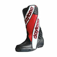 Daytona Outer Security Evo Moto Motorcycle Leather Boots Red / White / Black