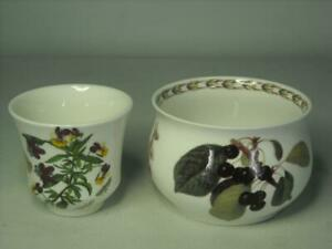 TWO Small Bowls / Vases Portmeirion Floral Butterfly + Queens RHS Hooker's Fruit