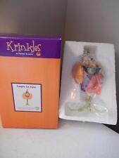 "Department 56 NEW Krinkles Pumpkin Cat Sister (6 1/2"" Tall)"
