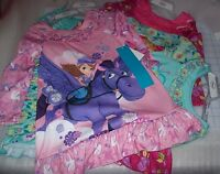 GIRLS DISNEY LONG SLEEVE NIGHTSHIRT MULTIPLE COLORS / CHARACTERS NEW WITH TAGS