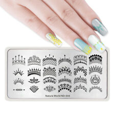 Nail Art Stamping Plates Nature World Series Leaf Bee Rectangle DIY NICOLE DIARY