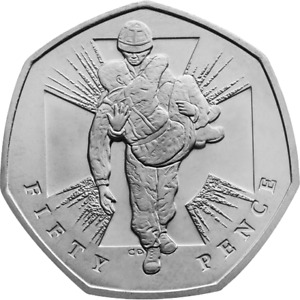 2006 50p Wounded Soldier Victoria Cross Coin FREEPOST