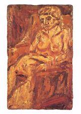 Postcard Art PORTRAIT OF FIDELMA (1986) by Leon Kossoff MU2170 #65 nude risque