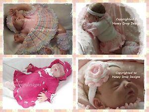 PAPER KNITTING PATTERNS * (Set of 3) * Ballerina Combo * Baby/Reborn