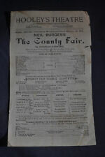 Ca 1895 Neil Burgess The County Fair at Hooleys Theatre Chicago Ill.